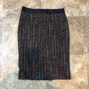 Boden colorful wool pencil skirt